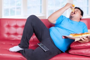pizza sul divano