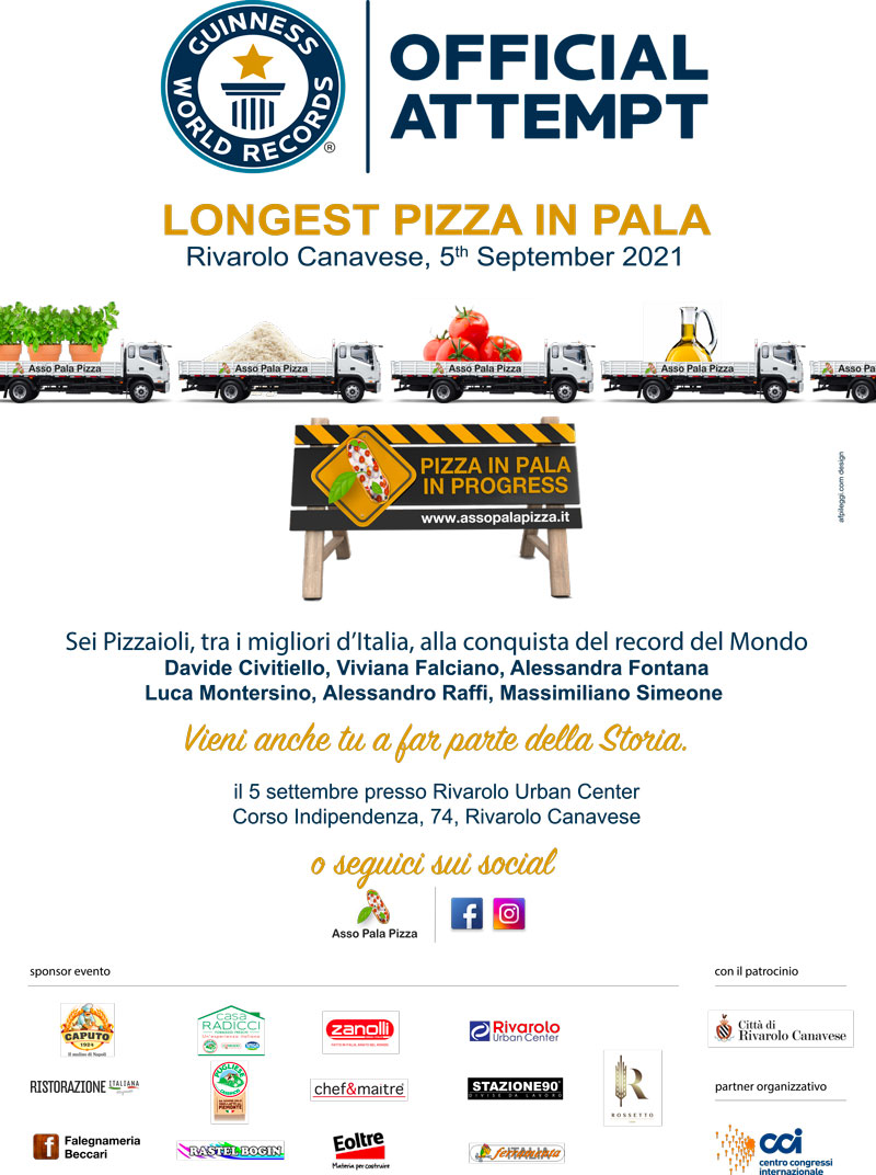 asso pala pizza Guinness world record